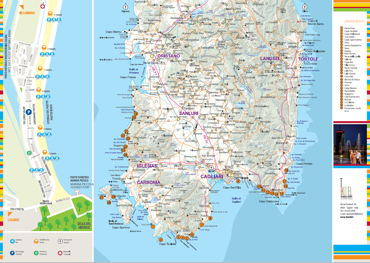 Sardegna Ovest Cartina.Alla Scoperta Del Sud Sardegna Da Cagliari